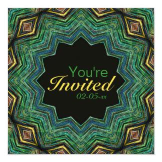 Eye of the Star mandala 5.25x5.25 Square Paper Invitation Card