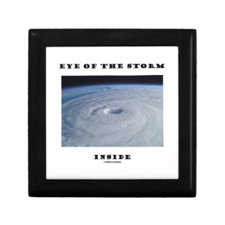 Eye Of The Storm Inside (Hurricane's Eye) Trinket Boxes