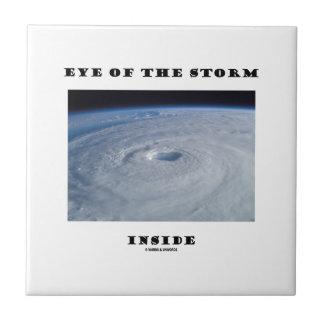 Eye Of The Storm Inside (Hurricane's Eye) Small Square Tile
