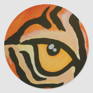 Eye of the Tiger Round Stickers