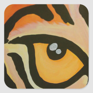 Eye of the Tiger Square Sticker