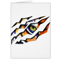 tiger, cat, big, eye, wild, nature, tigers, digital, graphic, wildlife, eyes, Card with custom graphic design