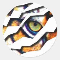 tiger, cat, big, eye, wild, nature, tigers, digital, graphic, wildlife, eyes, Sticker with custom graphic design