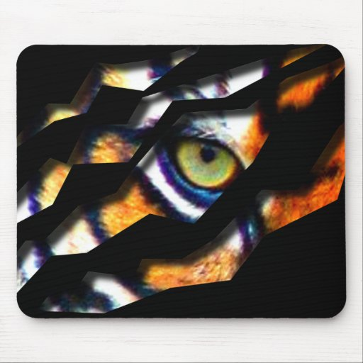 Eye Of The Tiger Tear Through Mouse Mat
