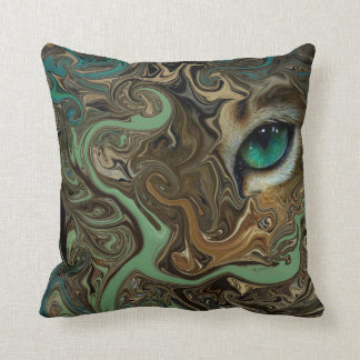 Eye Of The Tiger. Throw Pillow