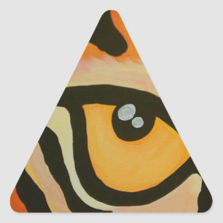 Eye of the Tiger Triangle Sticker