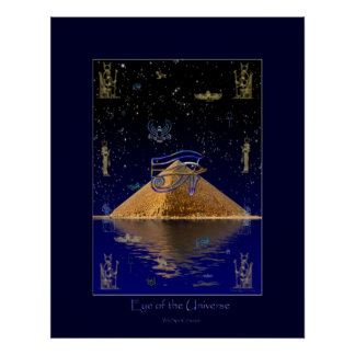 Eye of the Universe Egyptian Art Poster