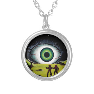 EYE OF THE WATCHER SILVER PLATED NECKLACE