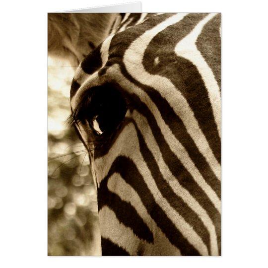 Eye of the Zebra Blank Greeting Card