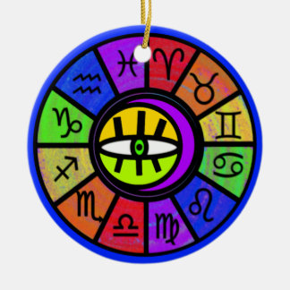 Eye Of The Zodiac Ceramic Ornament