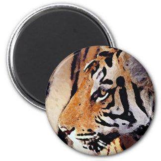 Eye of Tiger 2 Inch Round Magnet