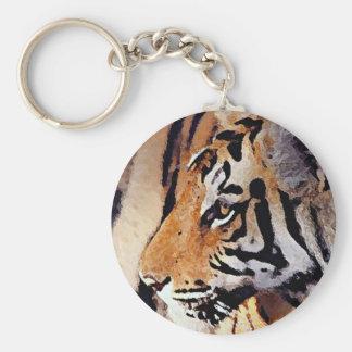 Eye of Tiger Basic Round Button Keychain