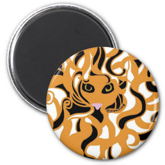 Eye of Tiger Fridge Magnet