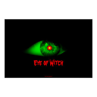 Eye of Witch Cool Eyeball Design Man/Bro Xmas Poster