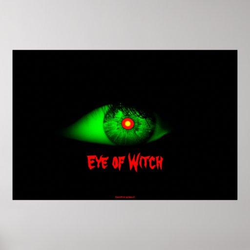 Eye of Witch Cool Eyeball Design Man/Bro Xmas Posters
