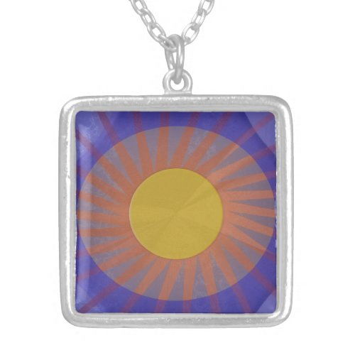 Eye on Diversity Charm Silver Plated Necklace