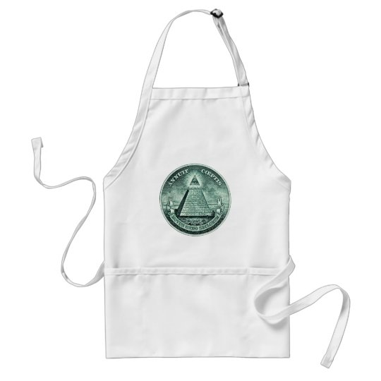 Eye On The Dollar Illuminati Pyramid Adult Apron