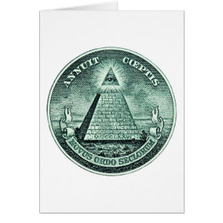 Eye On The Dollar Illuminati Pyramid Card