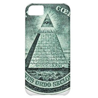 Eye On The Dollar Illuminati Pyramid iPhone 5C Case