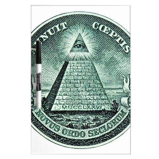 Eye On The Dollar Illuminati Pyramid Dry Erase Board