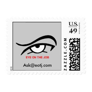Eye On The Job Postage Stamp