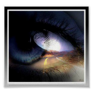 Eye On The Road by Missi L Boness Poster