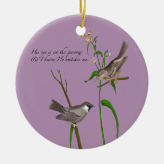 Eye on the Sparrow Ceramic Ornament