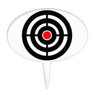 Eye on The Target - Bullseye Print Cake Topper