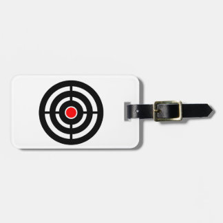 Eye on The Target - Bullseye Print Luggage Tag