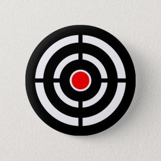 Eye on The Target - Bullseye Print Pinback Button