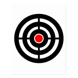 Eye on The Target - Bullseye Print Postcard