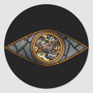 Eye on Time, sticker Round Sticker