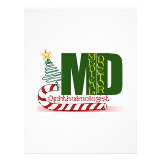 Eye OPTHAMOLOGIST MERRY CHRISTMAS MD DOCTOR Letterhead
