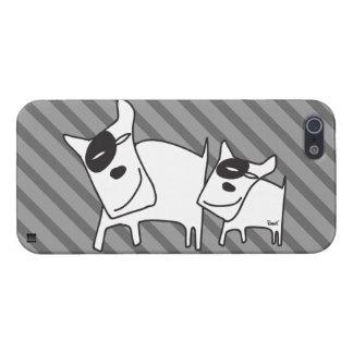 Eye Patch Dog Gray Stripe iPhone 5 Case