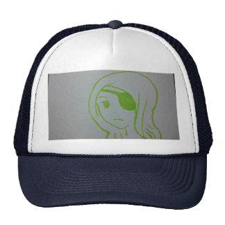 Eye patch. . . trucker hat