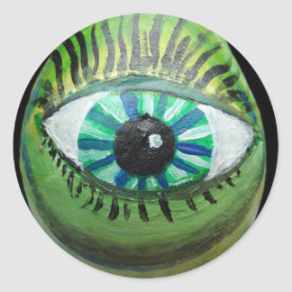 Eye Pear 1.png Classic Round Sticker