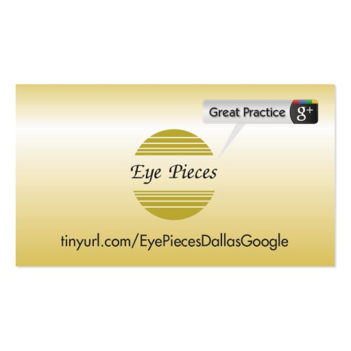 Eye Pieces Dallas Business Card