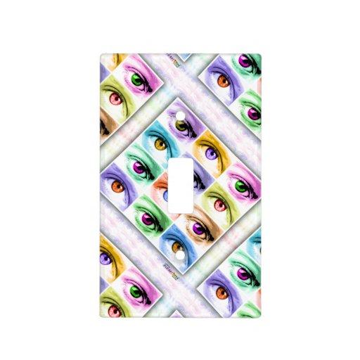 Eye Pop Art Light Switch Cover