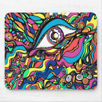 Eye-popping abstract art mouse pad
