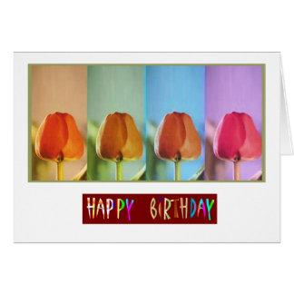Eye Popping Art -  Happy Birthday Tulip Show Greeting Card