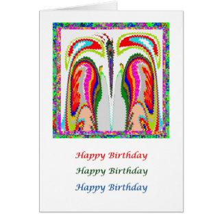 Eye Popping Art - HappyBirthday Burning Desires Card