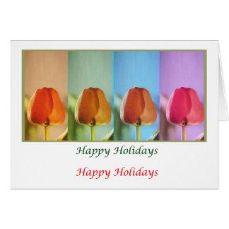 Eye Popping Art -  HappyHoliday Tulip Show Greeting Card