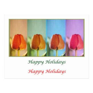 Eye Popping Art - Tulip Show HappyHoliday Postcard