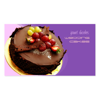 Eye popping chocolate cake, bakers business cards