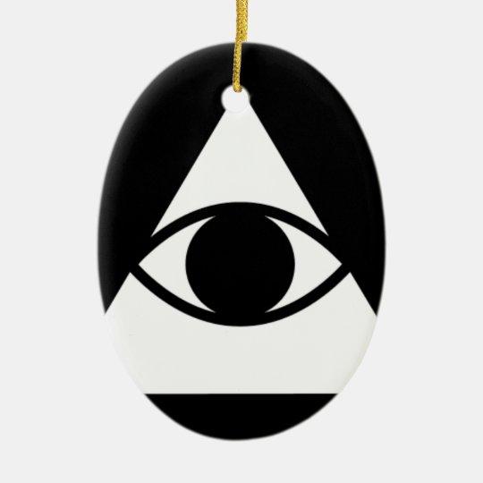 Eye Products Ceramic Ornament