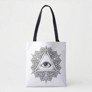 Eye Pyramid Symbol Doodle 2 Tote Bag