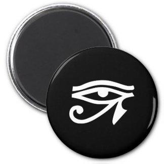 Eye Ra Horus Black 2 Inch Round Magnet