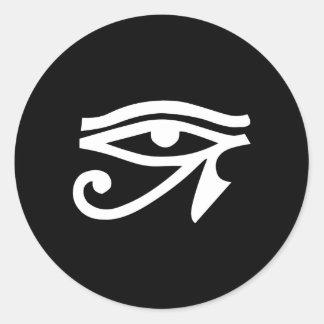 Eye Ra Horus Black Classic Round Sticker