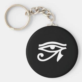 Eye Ra Horus Black Keychain