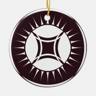 Eye Ray Medallion Ceramic Ornament